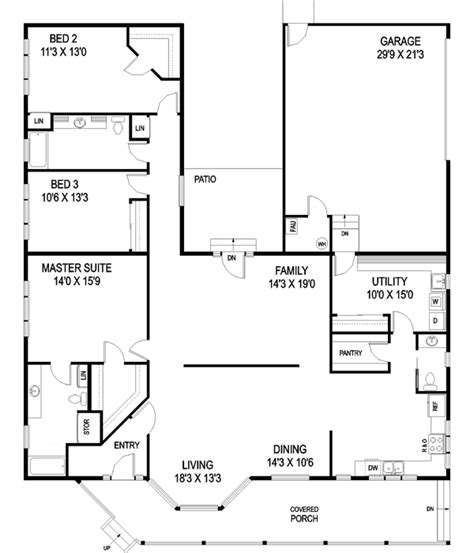 single story house floor plans plan w69022am northwest northwest style house plans 2350 square foot home 1