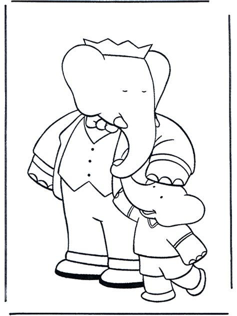 babar 8 babar coloring pages