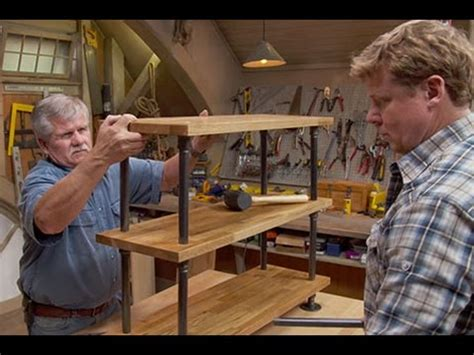 this old house cast build it black pipe bookshelf youtube
