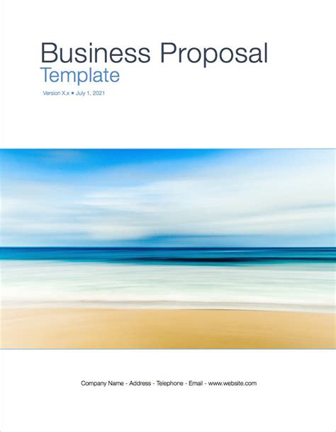 business proposal template apple iwork pages templates