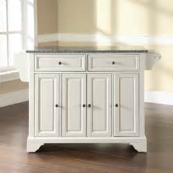 kitchen islands with granite top crosley lafayette kitchen island with granite top