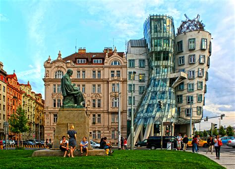 Architectural Style Of Home by Dancing House Prague Czech Republic Civic Arts Project