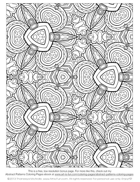 abstract pattern to color free adult coloring pages detailed printable coloring