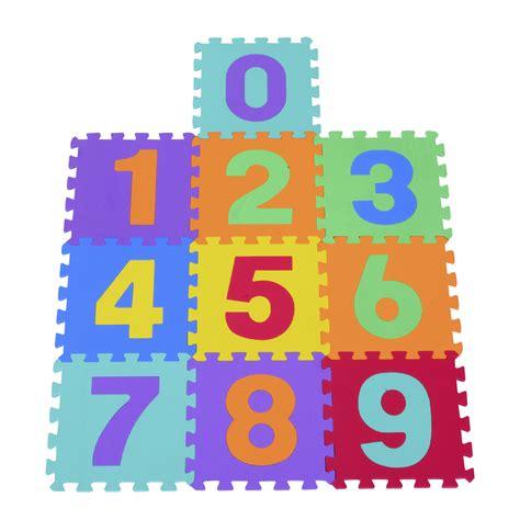 tappeto a puzzle per bambini homcom tappeto da gioco 10 pezzi puzzle in con