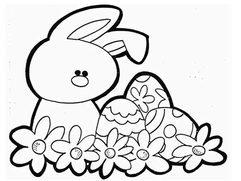 Easter Bunny Coloring Page free coloring pages of easter colour by number