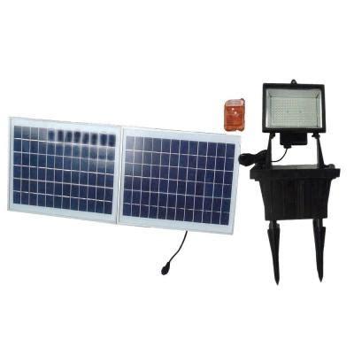 Solar Goes Green Solar Black Outdoor Led Flood Light With Solar Flood Lights Home Depot
