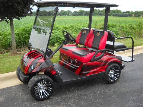 golf car 2010 yamaha ydra chicago blackhawks 4 passenger harris