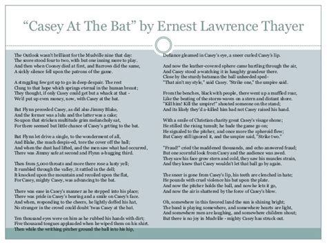 printable version of casey at the bat poetry dedication project