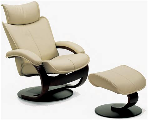 Fjords Chairs by Fjords Ona Ergonomic Leather Recliner Chair Ottoman
