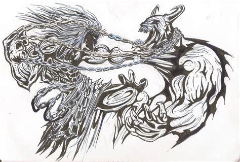 god vs devil tattoo designs jesus vs by mokaup on deviantart