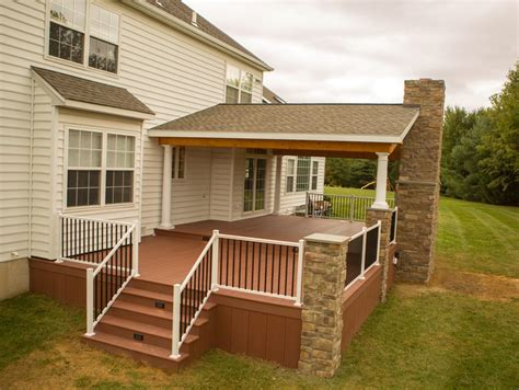 porch deck rustic porch project in garnet valley pa stump s decks