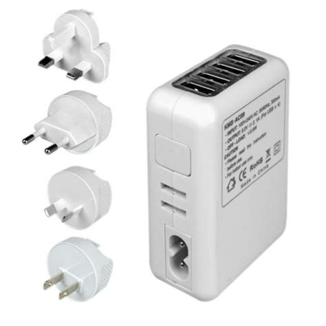Ac Portable Usb 2 1a 5v 4 port usb portable home travel wall charger ac