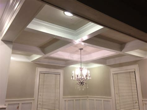 coffered ceiling pictures coffered ceiling wainscoting one home made