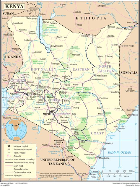 map of kenya kenya overview map kenya mappery