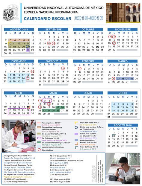 Calendario Escolar Unam Calendarios Escolares 2015 2016 Escolar Mx