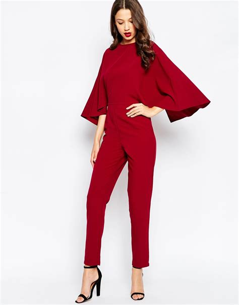 Cape Sleeve Jumpsuit Fashion Statement for Glamorous Ladies ? Designers Outfits Collection