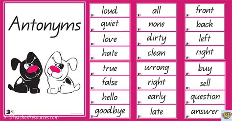 theme synonym in spanish 40 pairs of synonyms k 3 teacher resources
