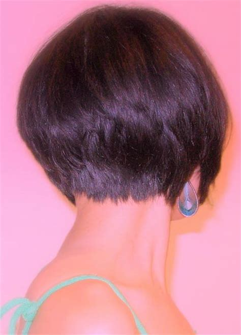 bob wedge hairstyles back view short inverted bob back view