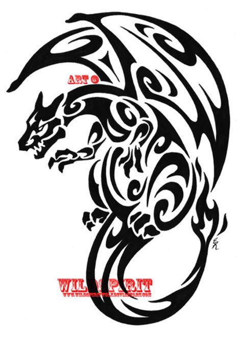 small tribal dragon tattoos small tribal for models
