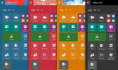 color themes office 365 microsoft updates office 365 app launcher