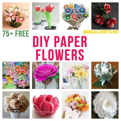 all crafts 75 diy paper flowers allcrafts free crafts update