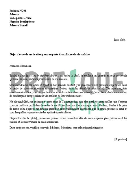 lettre de motivation pour animateur cantine ccmr