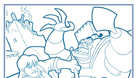steintime quest for camelot coloring page