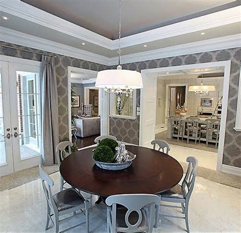 Gray Dining Room With Tray Ceiling 80 Best Images About Tray Ceiling Dining Room On