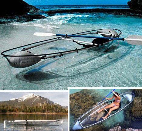 clear bottom boat overboard 15 creative offbeat canoes kayaks boats