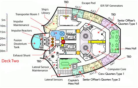 starship floor plan deck two floorplan of class starship trek class united federation of planets