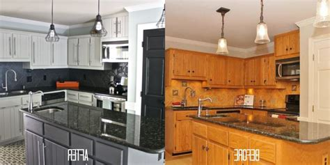 kitchen cabinets painted before and after painted kitchen cabinets before and after