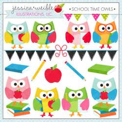 time owls cute digital clipart for commercial and
