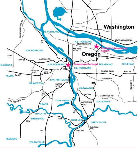 Portland Search Portland Oregon Metro Map Metro Map