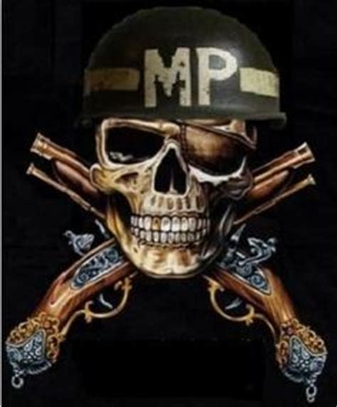 mp scull mp corp insignia crossed pistols bad ass army mom