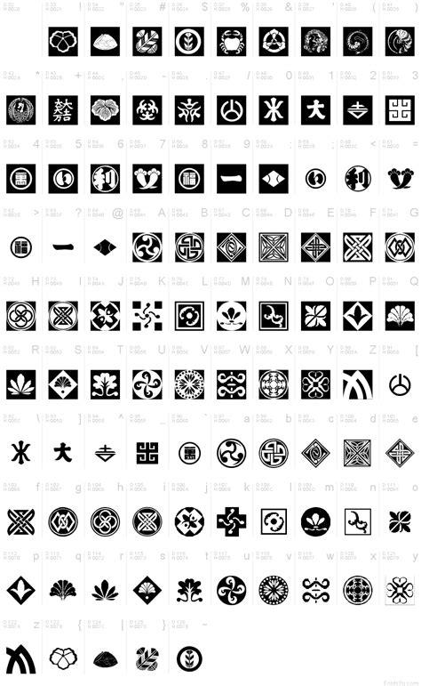 pattern fonts orient patterns font