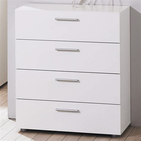 white bedroom draws modern white simple billi pepe 4 drawer chest of drawers