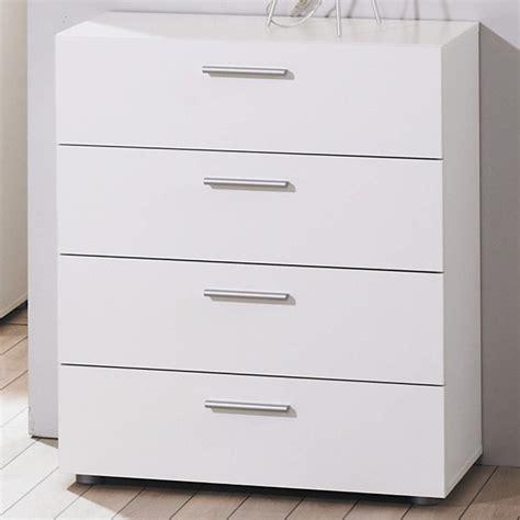 Modern White Chest Of Drawers Modern White Simple Billi Pepe 4 Drawer Chest Of Drawers Storage Ebay