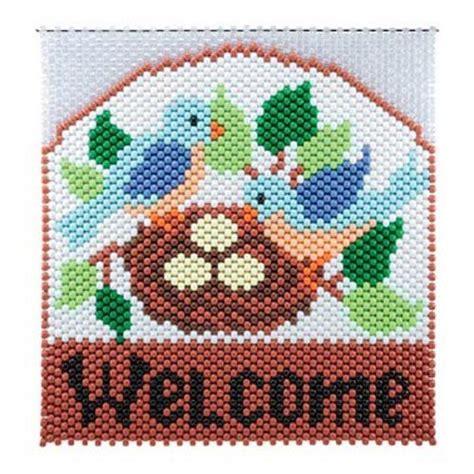 birds nest beaded banner kit herrschners home toys