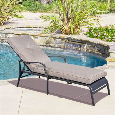 chaise lounge pool chairs gym equipment outdoor patio adjustable cushioned pool