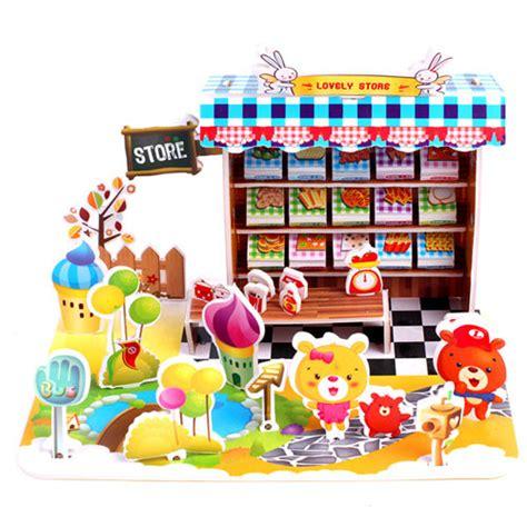 Puzzle 3d Clothes Shop 3d shop puzzles 3d puzzle storem 3d mini shop puzzle