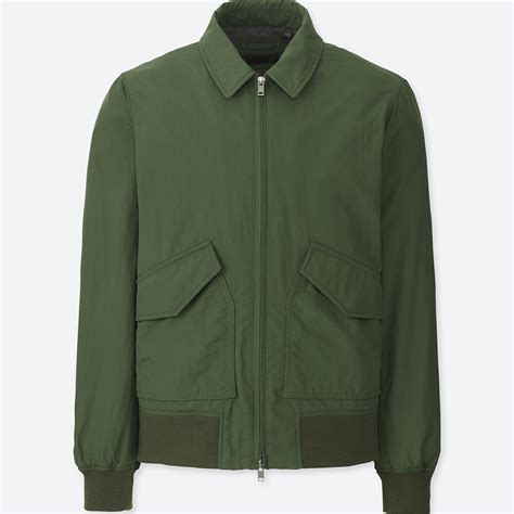 Uniqlo Parachute Jacket Green Size L uniqlo flight jacket