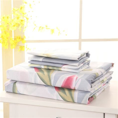 queen bed sheet size 4pcs set printed bedding set queen king size fitted sheet