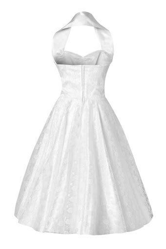 50s Retro halter luxury White Satin Lace swing dress wedding dres