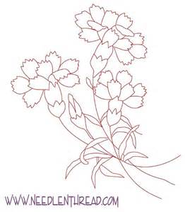 free hand embroidery pattern carnations needlenthread