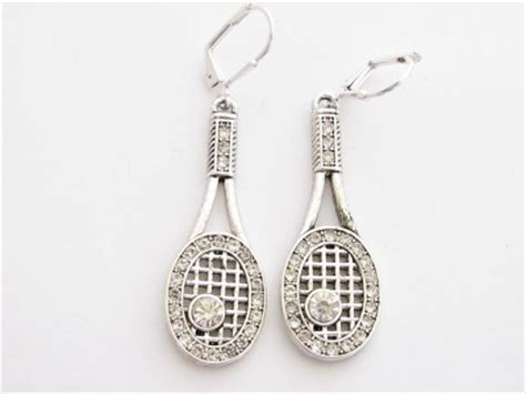 tennis racquet racket fashion earrings jewelry ebay