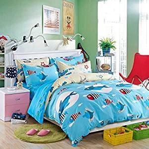 tropical fish comforter com lelva blue ocean cartoon bedding cute shark