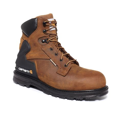 waterproof work boots for carhartt 6 inch bison waterproof steel toe work boots in