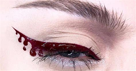 Eyeshadow Buat Remaja makeup eyeliner tetesan darah yang wajib kamu coba buat