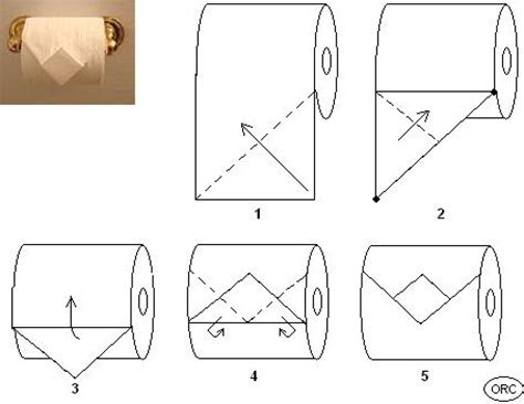 Folding Toilet Paper Fancy - toilet paper origami