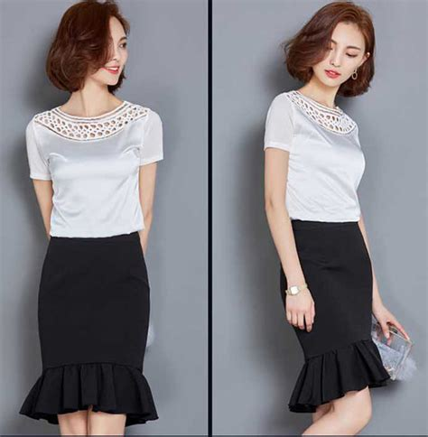 Korean Import Ori Premium Blouse Dress Pakaian Kode Bj 31 baju blouse sifon katun modern lengan pendek b3142